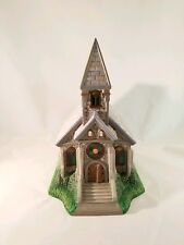 "Partylite P7321 ""The Church"" Olde World Village Tealight House"