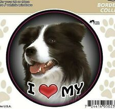 "I Love My Border Collie Dog 3"" Decal Sticker for Vehicle Windows or Drinkware"