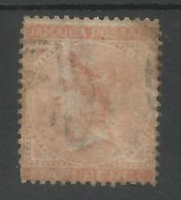 JAMAICA SG4 THE 1860 QV 4d BROWN -ORANGE USED CAT £50