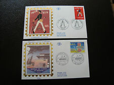 FRANCE -2 enveloppes 1er jour 1993 (journee timbre/guerres indochin)(cy38)french