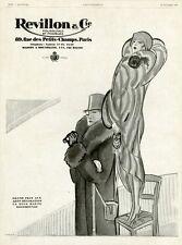 """""""REVILLON & Cie"""" Annonce originale entoilée L'ILLUSTRATION 27/10/1928  PUYBELLE"""