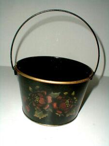 Tin Toleware Tole Ware Amish Pennsylvania German Dutch Folk Art Bucket Pail