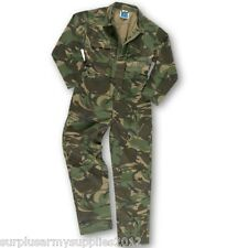 KIDS ARMY CAMOUFLAGE OVERALLS 1-13 YRS BOYS SOLDIER COSTUME COVERALLS RED BLUE