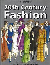 20th Century Fashion by John Peacock hc/dj ~ 1110 color illus ~ costume shoes