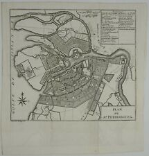 SAINT PETERSBURG 1786 РОССИЯ САНКТ ПЕТЕРБУ́РГ RUSSIA MAP КАРТА WILLIAM COXE