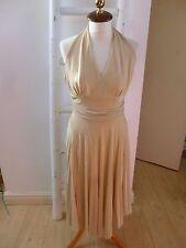 Gino Cerruti Vintage? Graduación/OCASIÓN/cóctel vestido de oro de Marilyn Monroe S/M