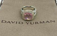 David Yurman 11mm Albion Ring Pink Tourmaline & Diamonds Size 7