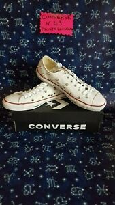 112 Converse All Star Leather With Studs Silver IN Offer Size 43