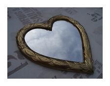 Wall Mirror Heart Love Mirror Heart Shape Baroque Gold Love Gift New 26