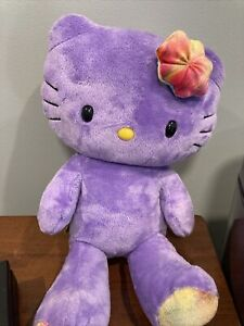 "Build A Bear Workshop 18"" purple hello kitty plush stuffed toy"