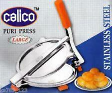 "CALICO Stainless Steel Puri Press Papad Maker Roti press Chapati press7""DIAMETER"