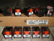 Lot of 10 Schrack PT270524 TE Connectivity Plug-in Power Relays DPDT 24VAC 12A
