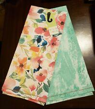 Pier 1 Hello Spring 100% Cotton Tea Towel Set of 2 - Two Patterns NWT