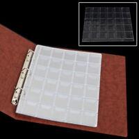 5x 30 Pockets Coin Holders Collection Storage Plastic Money Album Case Envelope