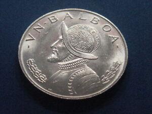 1966 Panama One 1 VN Balboa Silver Coin Brilliant Uncirculated