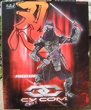 "BBi 1:6 Cy Com Cyborg FireBlade Night Ninja 12"" Action Figure 2002 USA Dealer"