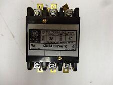 "GE Contactor CR153C024ATC; 3 pole; 40 resistive amps per pole  ""USED"