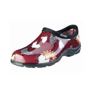 Women's Waterproof Garden Shoe, Chicken Barn Red, Size 9