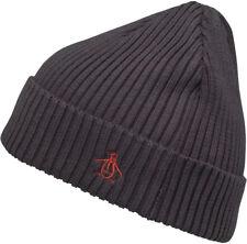 Original Penguin Basic Rib Winter Beanie Mens Womens Designer Hat Grey fccd5106231