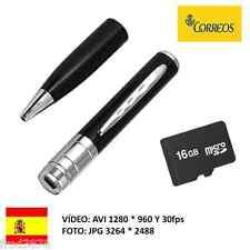 BOLI ESPIA CON CÁMARA OCULTA BOLIGRAFO HD 1280 * 960 + MICRO SD 16GB plateado
