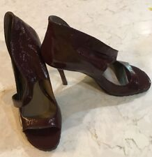 EUC Lisa For Donald J Pliner Brown Patent Leather High Heels Sandal Shoes 6M