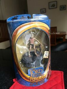 LOTR Gollum Figurine with electronic sounds Sealed Unused 2003 EXC