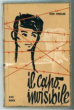 PREXLER RUDI IL CAPO INVISIBILE AVE ROMA 1958 LA GIOSTRA 4 ILLUSTRAZIONI GOINA