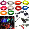 1-5M LED Light El Wire Glow String Strip Rope Dance Party +3V/12V/USB Controller