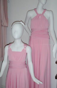 Twist Wrap Infinity Dress - Last three Wild Rose Petal Pink - FLASH SALE