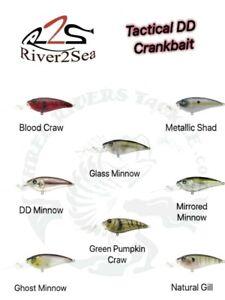 River2Sea Tactical Bassin' DD Crank 75 Crankbait - Choose Color