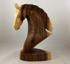 Horse  head hand Carved From( Sono )iron Wood With A lot Of Details (new).