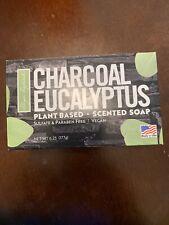 1 Bar Vegan Charcoal Eucalyptus Plant Based Scented Soap.