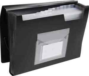 A4 EXPANDING FILE IN BLACK