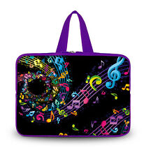"""Music Notes 10"""" Laptop Sleeve Carrying Case Handle Bag for 9.7"""" iPad Air,4,3,2,1"""