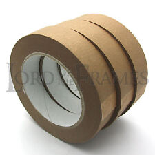 3 x 25mm Self Adhesive Backing Tape for Picture Frame Framing Canvas Photo 50m