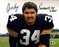 Andy Russell BAS Beckett Coa Hand Signed 8x10 Steelers Photo Autograph