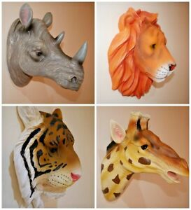 Large Wall Mounted Hanging Animal Head Resin Ornaments Home Decoration Realistic