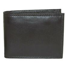 New Buxton Men's Emblem Leather Zip-Convertible Bifold Wallet