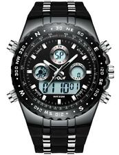 Mens Big Face Digital Analogue Sports Watches Men Waterproof Electronic LED Date