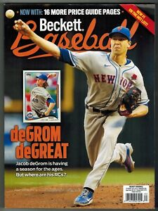 Beckett Baseball Price Guide September 2021 Jacob deGrom NY Mets Cover #186