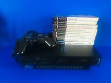 Sony Playstation 2 PS2 Console Dual-shock Controller All Cables - 8 Great Games