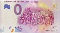 BILLET 0  EURO HISTORISCHE MOTORRADER 1929-1930 ALLEMAGNE 2017  NUMERO DIVERS