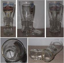 Emaillierter Stiefel aus Glas Andenken an Jüterbog Wache u. Wasserturm