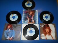 80's Records 45 RPM TIFFANY lot of 4 Different Records / 3 With Picture Sleeves