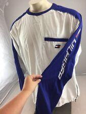 VTG TOMMY HILFIGER Athletics white/blue Pullover Jacket L Flag Spell Out RARE