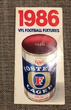 RARE 1986 VFL AFL FIXTURE FOSTERS - EXCELLENT CONDITION