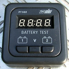 TWIN (2) BATTERY DIGITAL VOLTAGE LEVEL TEST PANEL METER 12V SYSTEM MOTORHOME etc
