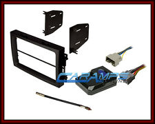 CAR STEREO RADIO KIT DASH INSTALLATION TRIM BEZEL W/ INTERFACE WIRING HARNESS