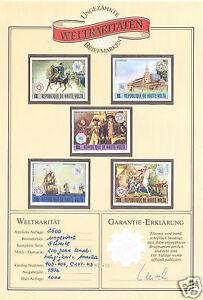 1976 UPPER VOLTA #403-4 C241-3 AMERICAN BICENTENNIAL IMPERF PROOFS W/CERTIFICATE