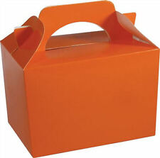 20 Orange Party Boxes - Food Loot Lunch Cardboard Gift Wedding/Kids